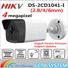 2017 HiKvis Новый Выпущенный 4MP CMOS Сетевая Камера Пули DS-2CD1041-I заменить DS-2CD2045-I 30 м ИК CCTV Камеры DWDR IP67