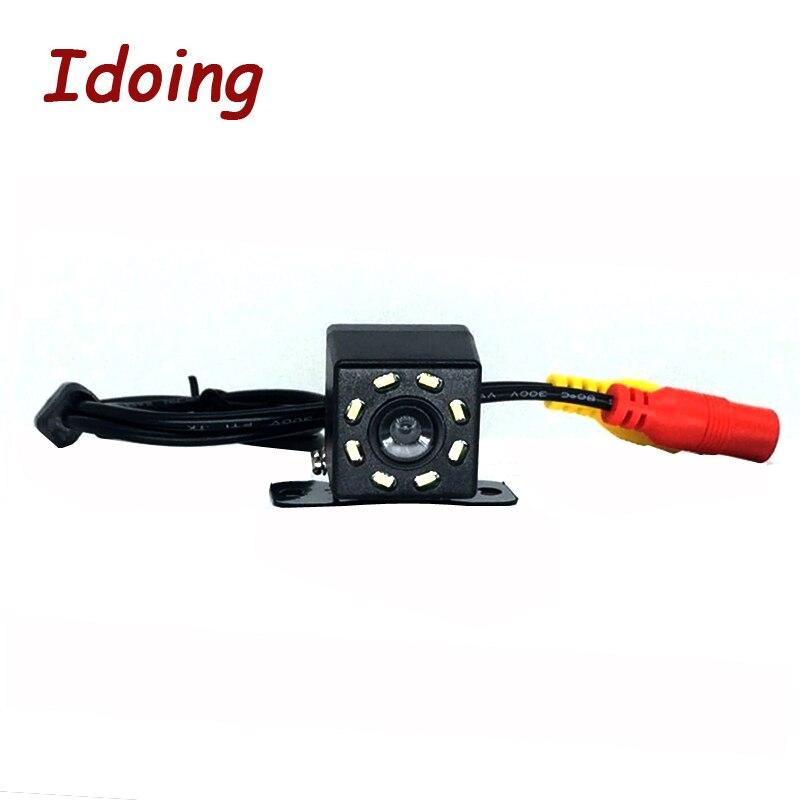 Idoing HD CCD Auto Hinten Kamera 8 IR lichter Umkehr Auto Backup Reverse Kamera Rückansicht Kamera für Android 4.4/ 5,1/6,0/7,1