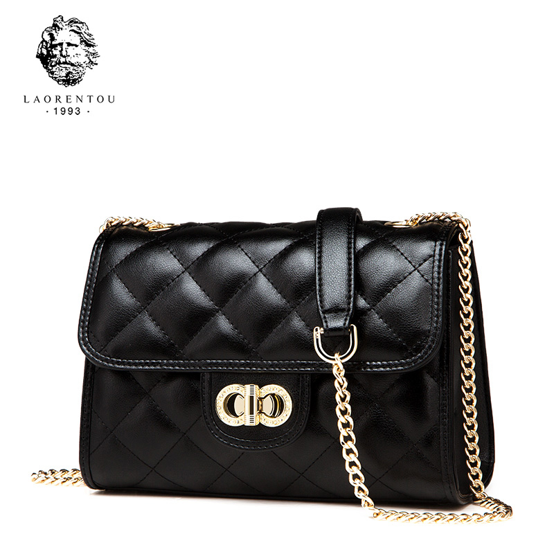 LAORENTOU Women Leather Bag Crossbody Bags For Ladies Chain Bags Valentine s Day Present Women Shoulder