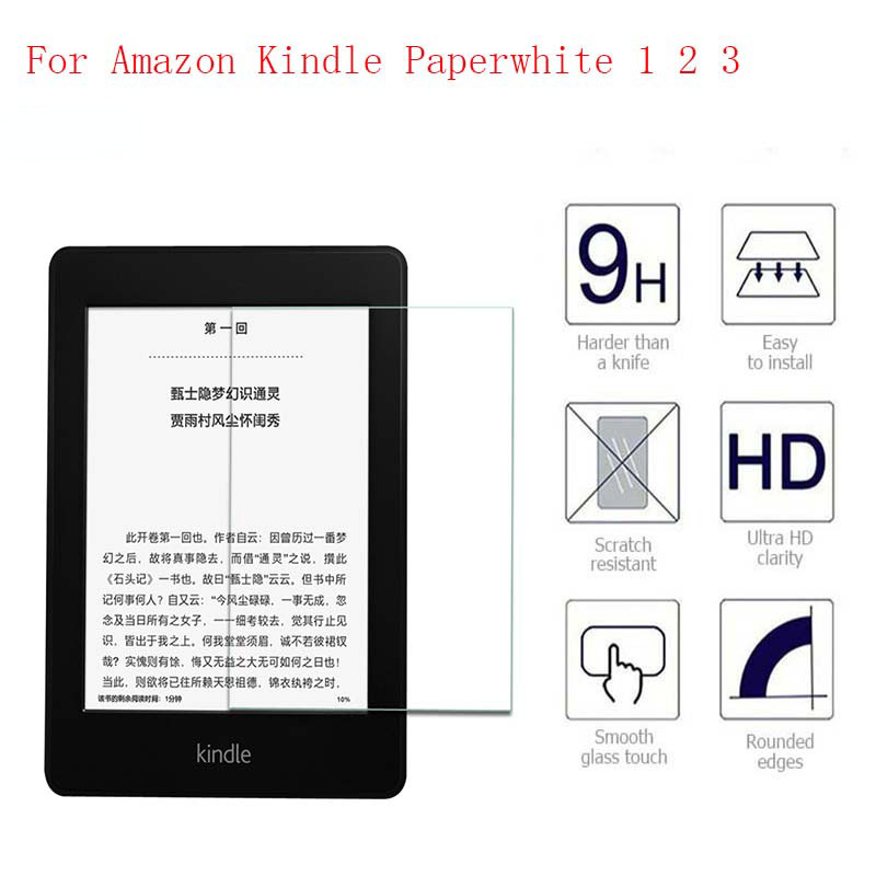 9H Screen Protector For Amazon Kindle Paperwhite Tempered Glass 6 for All Kindle Paperwhite 1 2 3 2015 2016 Protective Film benks tempered glass for xiaomi 5 2 5d radians screen protector