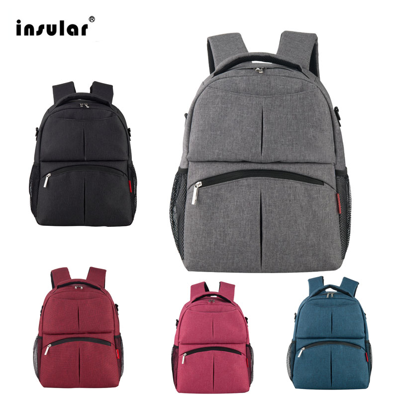 INSULAR Mother Bag Diaper Backpack Baby Nappy Bags Large Capacity Maternity Mummy Stroller bag New Fashion 2018 Hot