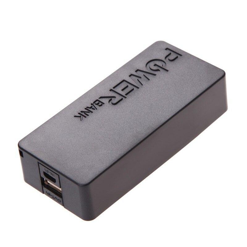 Portátil 5.0 V DC USB Banco de la Energía Del Teléfono Móvil 2x18650 Caja del Ca