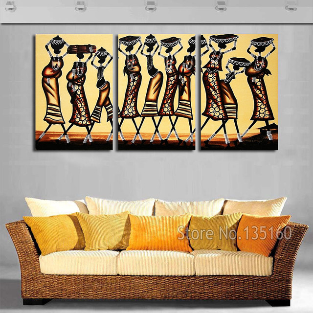 Abstract African Women Wall Art Painting On Canvas Vintage Figure Print For Bedroom Home Decor