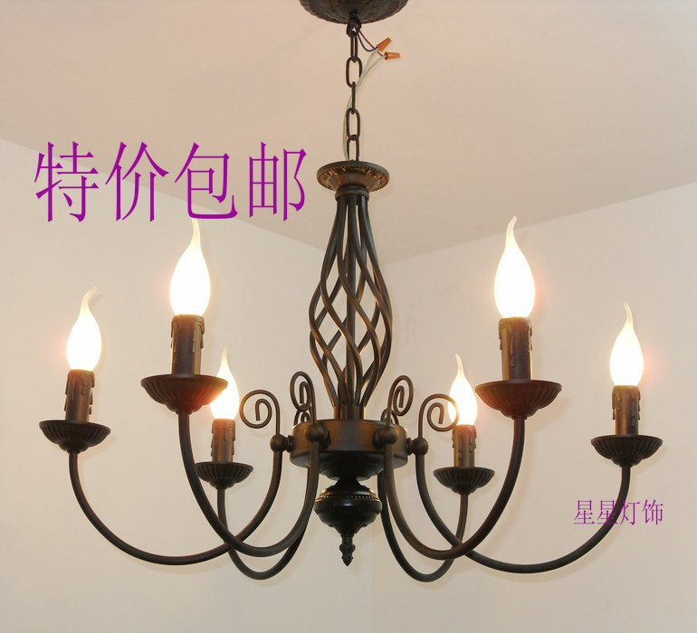 EMS FREE SHIPPING Pendant light fashion lamps wrought iron pendant light living room pendant light lamps brief . 6 caplights  free shipping ems fashion big pendant light wrought iron lighting stair lamp double layer house lights fashion lamps