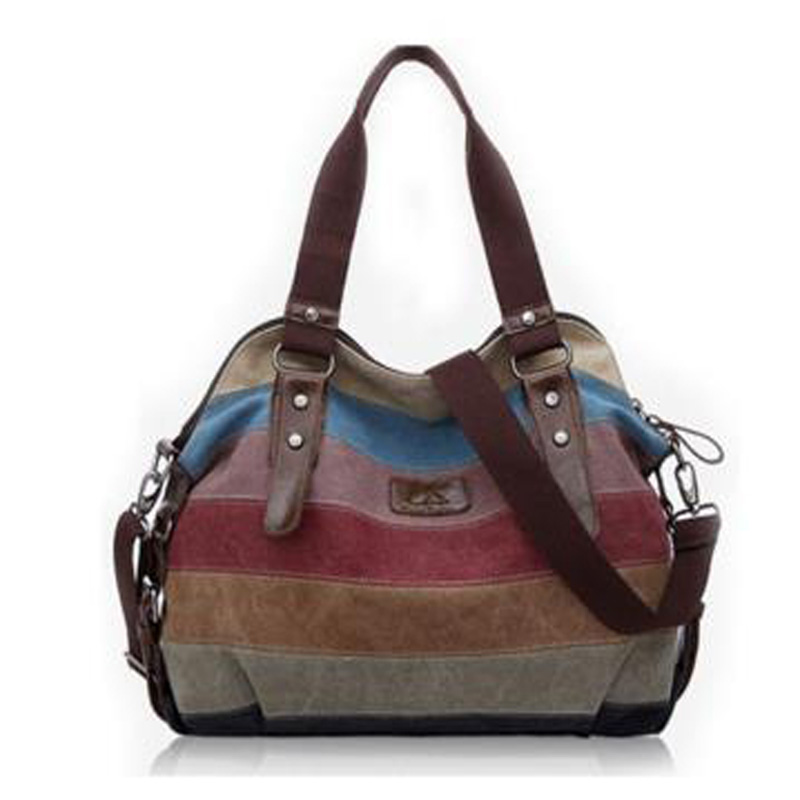 Fashion canvas handbags top quality women shoulder bags designer totes casual shoulder bag messenger bag color