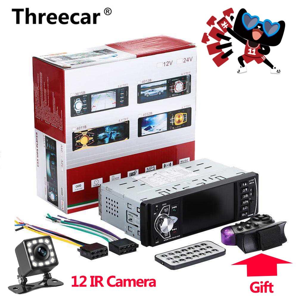 Autoradio 1 din 4022d autoradio Auto Audio stéréo FM Bluetooth 2.0 caméra de recul usb aux commande au volant