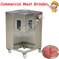 Popular Meat Slicing Movable Meat Processor with 4 Wheels Steel Meat Chopping Machine for Grinding Shredding Slicing QSJ A