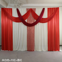 3x4m ice silk chiffon fabric elegant and luxury wedding backdrop swags drape curtain for wedding stage decoration event party