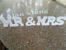 Free shipping Wooden letters Mr and Mrs sign for wedding Custom Made