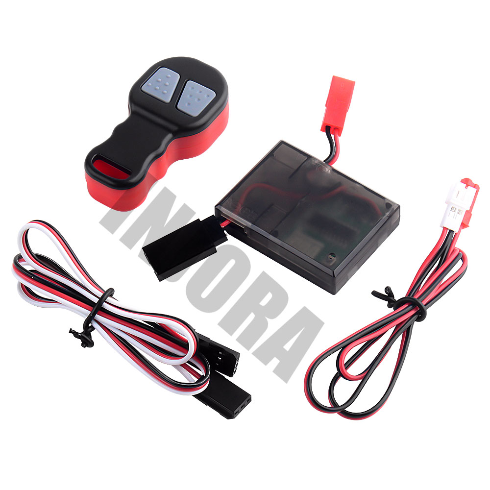 Image 3 - INJORA Wireless Remote Receiver Winch Controller Set for 1/10 RC Crawler Traxxas TRX4 Axial SCX10 D90 Tamiya CC01Parts & Accessories   -