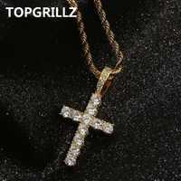 """Topgrillz hip hop pico harvey cruz pingente colar micro pave aaaa + zircônia cúbica estilo egípcio colar 24 """"30"""" corrente"""