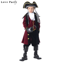 Classic Children Halloween Cosplay Party Costumes Boys Captain Performan Hook Clothes With Hat Uniform Sets For Kids Boys
