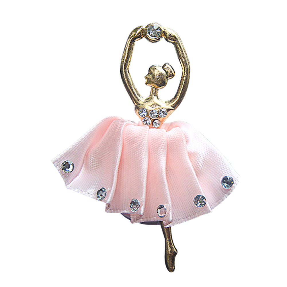 Rhinestone Ballet Girls Car Air Vent Outlet Freshener Fragrance Perfume Clip in Air Freshener from Automobiles Motorcycles