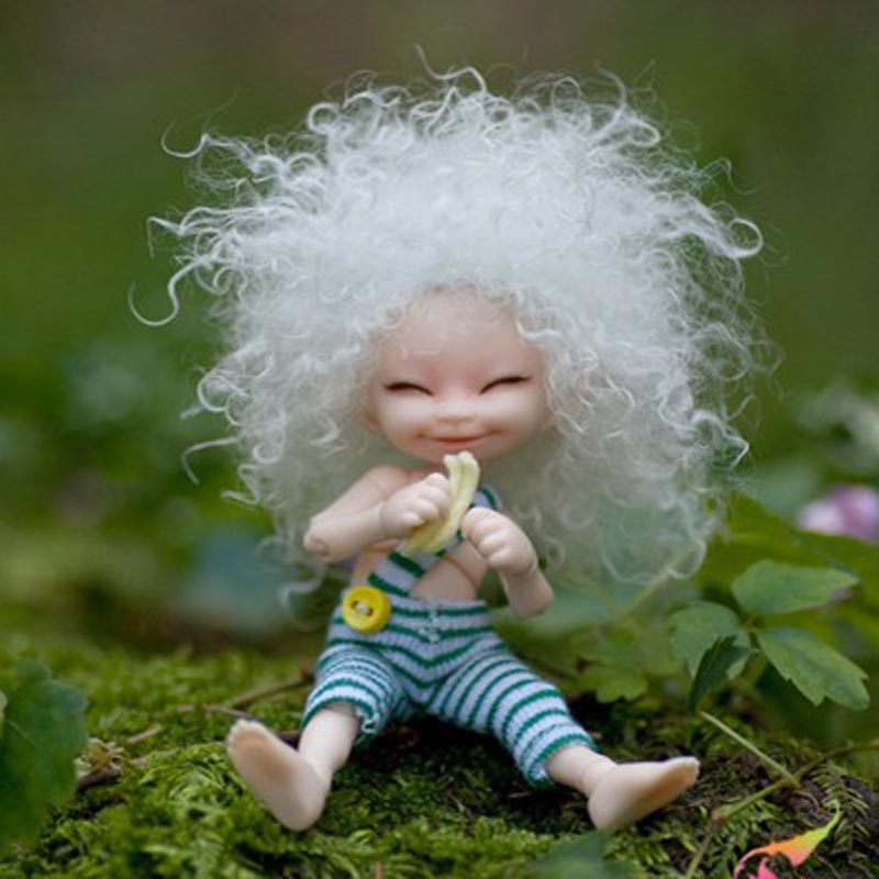 Free Shipping 1/12 BJD Doll BJD/SD Very Cute SOSO Doll With Eyes & Eyelash For Baby Girls Gift (Include make up ) fairyland realpuki soso bjd sd doll for sales toy gift