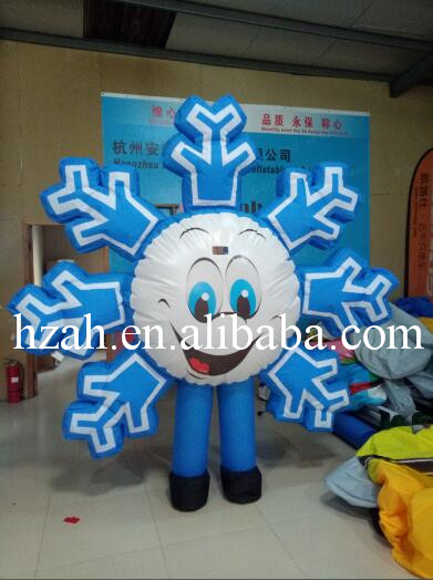 Moving Inflatable Snowflake Costume Inflatable Snow 10pcs lot cold resistant pvc inflatable unicorn winter snow tube inflatable snow games toys snow tube toy