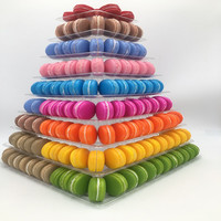 9 Flexible Plastic Tiers Fondant Cake Stand Cake Pops Macaron Display Stand Wedding Table Decorating Tools Dessert Candy Bar