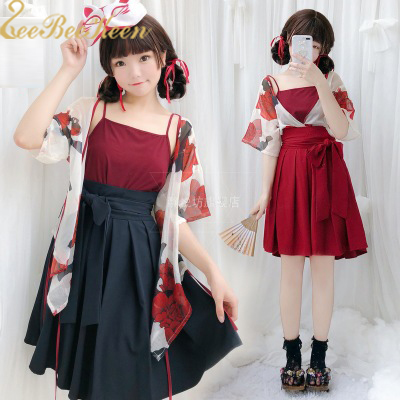 Halloween Party Costume Women  Japanaese Kimono Print Flower Bath Robe Gown Short/long Skirt Sexy Anime Cosplay Party Dress