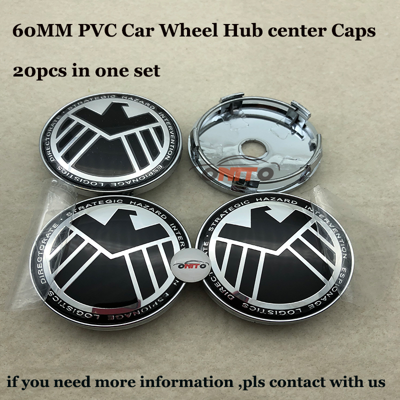 20PCS SET 60mm Agents of eagle Car Wheel hub center caps for Audi Ford Benz Nissan