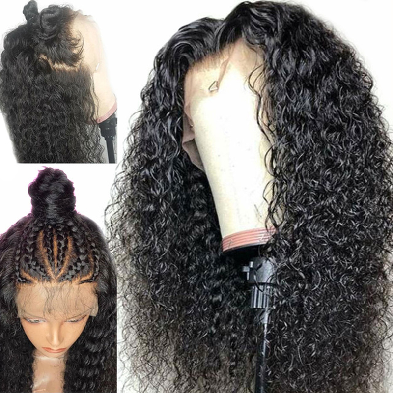 Curly Human Hair Wig 150 Density 13X4 Pre Plucked Lace Front Wig For Black Women Malaysian