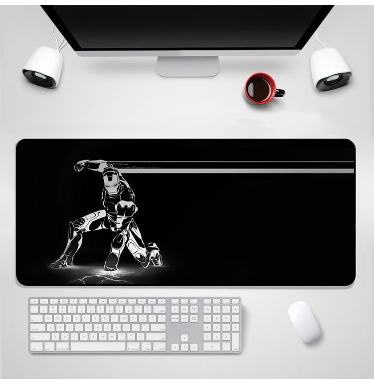 YIMAOC Marvel Iron Man Art Mouse Pad 30x80 cm Computer Mousepad Anti slip Natural Rubber Gaming Mouse Mat in Mouse Pads from Computer Office