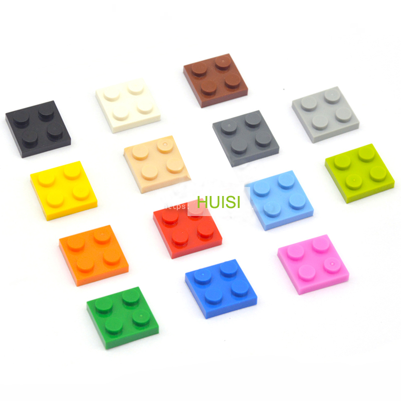 Early Learning Building Toys Plastic Blocks 2x2 Short Bricks Parts Compatible With Legos Unesex DIY Toys For Children 100pcs/lot