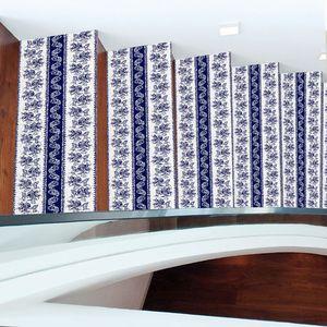 Image 5 - Chaude 2 pièces Style bohême escalier autocollants, PVC bricolage autocollant de sol, Stickers muraux pour la décoration de la maison salle de bain et cuisine