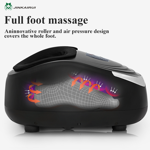 EU Plug Electric Antistress Foot Massager Vibrator Massage Machine Infrared Heating Therapy Health Care Device 3