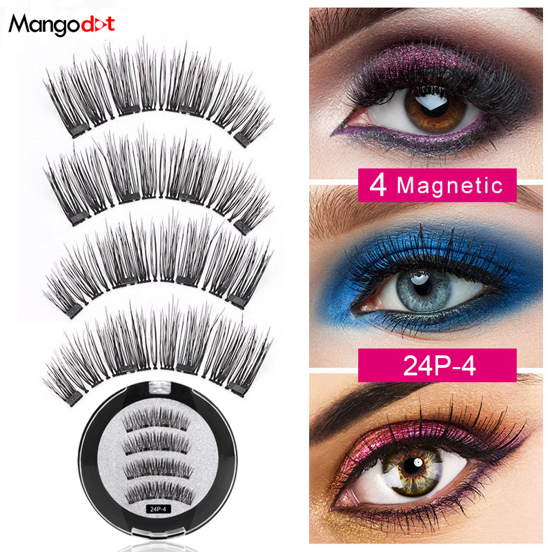 Mangodot <font><b>Magnetic</b></font> <font><b>eyelashes</b></font> <font><b>with</b></font> <font><b>4</b></font> <font><b>magnets</b></font> handmade 3D <font><b>magnetic</b></font> lashes natural false <font><b>eyelash</b></font> <font><b>magnet</b></font> lash <font><b>with</b></font> gift box 24P-<font><b>4</b></font> image