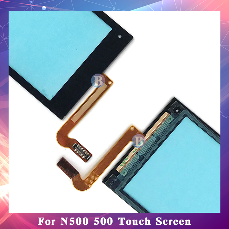 """10Pcs/lot High Quality 3.2"""" For Nokia N500 500 Touch Screen Digitizer Sensor Outer Front Glass Lens Panel Black"""