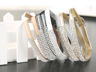 002b2772c New Arrival PU Leather Shoelace Rhinestone Crystal Shoes Accessory Sandals  Shoe Laces