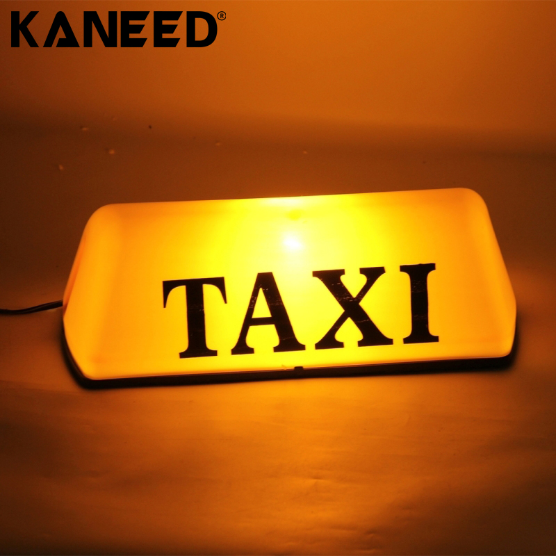 TAXI Roof Lamp Bright Top Board Roof Sign Light Indicator Cab Lamp Yellow 12V ...