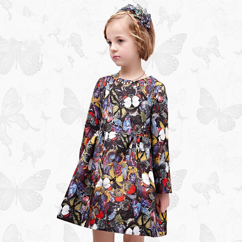 WL.MONSOON Girls Dress with Handmade Dragonfly 2017 Brand Princess Dress Long Sleeve Robe Fille Clothes Kids Dresses 42 24v 15ah battery pack lithium li ion 24v lithium bms electric bike battery 24v 500w e bike 15ah motor 24v 350w 2a charger