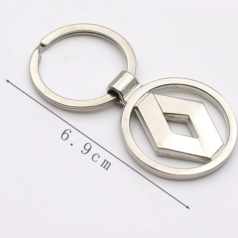 Nova alta qualidade chaveiros para o carro chaveiros chaveiros inovadores anéis para renault duster megane 2 logan renault clio