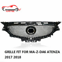 CITYCARAUTO FOR ATENZA FRONT RACING GRILL GRILLS DIAMOND GRILLE FIT FOR MAZDA 6 ATENZA 2017 2018 WITH FREE SHIPPING