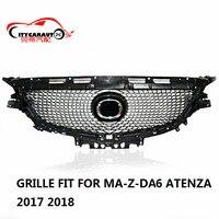 Citycarauto для Atenza передний гонки гриль грили решетка алмаза подходит для Mazda 6 Atenza 2017 2018 с бесплатной доставкой