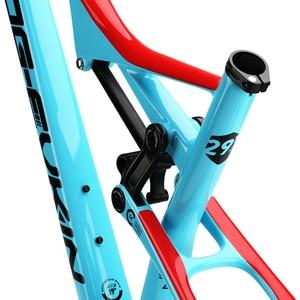 """Image 2 - OG EVKIN cf049 eps carbono mtb quadro de bicicleta 29er ud brilhante bb92 bicicleta conjunto de quadros 15.5 """"17.5"""" 19 """"21"""" fone de ouvido 1 1/8 """"1 1/2"""""""