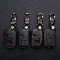 2014 2015 Toyota Camry Hand Stitched Leather Car Key Cover Hand Sewing Case Bag Wallet Keychain