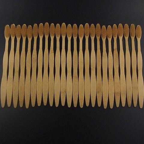 dr perfeito atacado 50 pecas lote eco friendly macio de cerdas macias escova de bambu