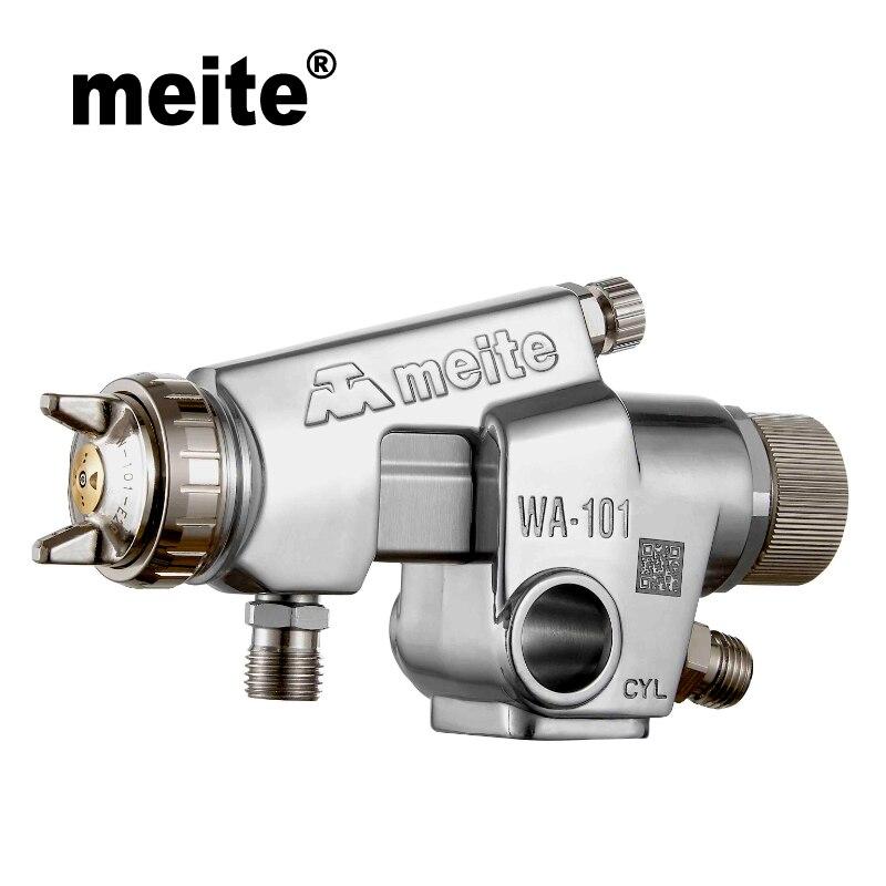 Pistolet de pulvérisation automatique Meite MT-WA101 type compact pistolet à peinture de type alimentation sous pression dans la buse 0.8/1.0/1.3/1.5mm Jun.14 outil de mise à jour