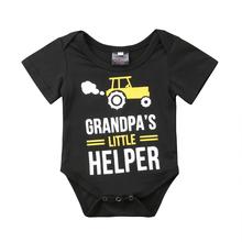 Family Clothes Grandpa Mens T-Shirt Infant Baby Girl Boy Romper Playsuit T Shirt
