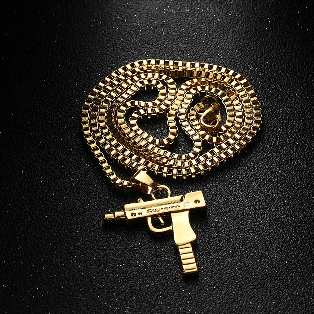 Machine Gun Pendant Necklace