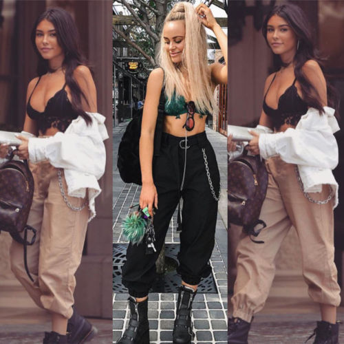 Fashion Women's Loose Bandage Cotton Casual Loose Harem Long   Pants   Elastic High Waist Cropped Length OL Trousers   Wide     Leg     Pants
