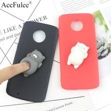 Squishy 3D Toys Phone Cat Case For Motorola Moto X4 G3 G4 G5