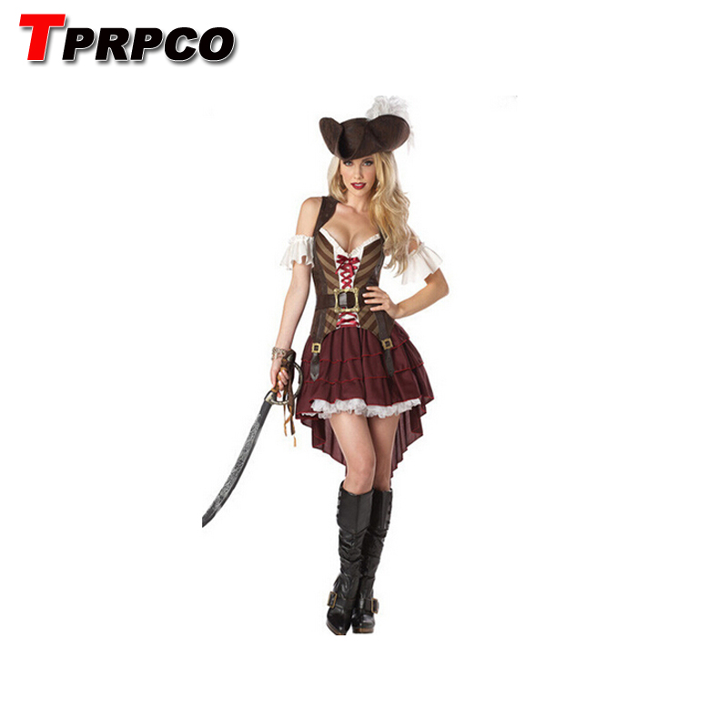 TPRPCO Women Pirates of the Caribbean costumes female pirate cosplay women's halloween costume NL177