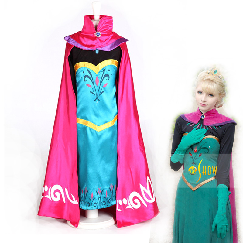 Snow Queen Anna dress For girs With Red Cloak Coronation Dress Made Cosplay Costume girls dress for fancy ball источник питания accordtec ббп 80 исполнение 1