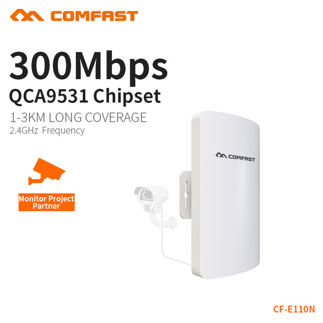 Comfast Outdoor Mini Wireless WIFI Extender Repeater AP 2.4G 300M Outdoor CPE Router WiFi Bridge Access Point AP Router CF-E110N 25 20pcs makeup brushes beauty tool set foundation blending blush eye shadow brow lash fan lip face make up brush kabuki kit