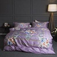 Европейский барокко цветочный плед цифровой печати Постельное белье queen King Размеры набор пододеяльников для пуховых одеял кровать простын