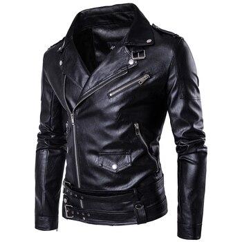 MarKyi fashion mens faux fur coats slim fit long sleeve motorcycle leather jacket for men Eu size 5xl imported jackets цена 2017