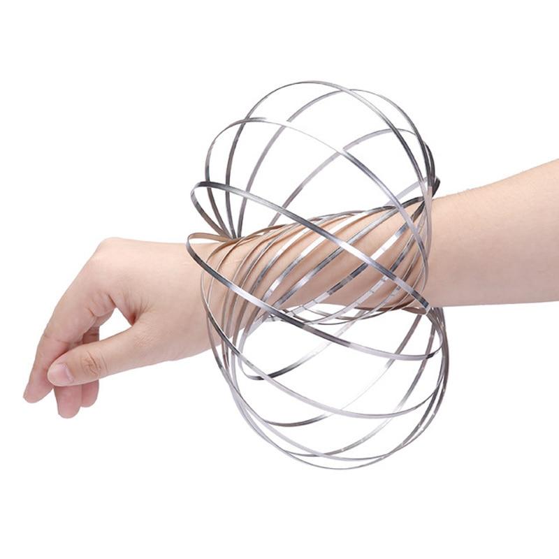 Betrouwbaar Nieuwe Flow Ring Speelgoed Verbazingwekkende Flow Speelgoed Kinetische Lente Speelgoed Grappig Outdoor Game Intelligente Antistress Speelgoed Fidget Spinner Laat Onze Grondstoffen Naar De Wereld Gaan