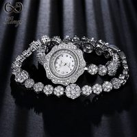 Xinge Brand 2018 High Quality Luxury Fashion Silver Watches Women Zircon Ladies Bracelet Wristwatch Crystal Dress